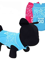 cheap -Cat Dog Shirt / T-Shirt Dog Clothes Red Blue Costume Terylene Heart Stars XS S M L