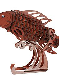 Недорогие -3D пазлы Пазлы Деревянные игрушки Танк Летательный аппарат Животный принт 3D Дерево Натуральное дерево Универсальные Подарок