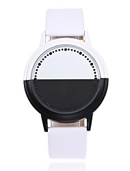 cheap -Men's Wrist Watch Digital Watch Quartz Leather Black / White Creative LED Analog - Digital Casual Fashion Unique Creative - White Black