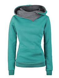 cheap -Women's Pullover Hoodie Sweatshirt Color Block Chic & Modern Hoodies Sweatshirts  Slim Black / Spring / Fall / Going out