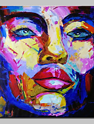 cheap -Large Size Hand Painted Face Oil Painting On Canvas Modern Abstract Wall Art Pictures For Wall Decor No Frame
