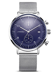 cheap -SINOBI Men's Sport Watch Wrist Watch Quartz Oversized Metal White 30 m Water Resistant / Waterproof Calendar / date / day Creative Analog Charm Sparkle Classic Vintage Casual - Black Silver Blue