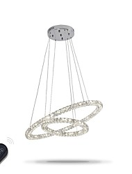 cheap -1-Light 60 cm Crystal / Adjustable / Dimmable Chandelier Metal Electroplated Chic & Modern 110-120V / 220-240V