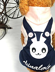 cheap -Dog Clothes/Jumpsuit Dog Clothes Cowboy Rabbit/Bunny Light Blue Blushing Pink