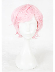 cheap -Synthetic Wig Cosplay Wig Straight Kardashian Straight Wig Pink Short Pink Synthetic Hair Faux Locs Wig Pink