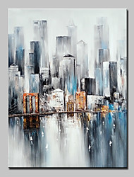 cheap -Big Size Hand Painted City Landscape Oil Painting On Canvas Wall Art Picture For Home Decor No Frame
