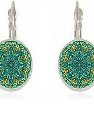 cheap -Women's Lever Back Earrings Vintage Bohemian Basic Earrings Jewelry Emerald Green For Date New Year Going out