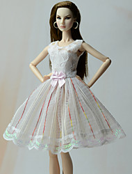 cheap -Doll Dress Dresses For Barbiedoll Striped Fashion Floral Botanical Poly / Cotton Lace Dress For Girl's Doll Toy