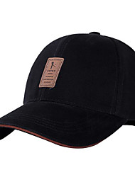 cheap -Men's Hat Cotton Baseball Cap-Solid Colored Spring &  Fall Black White Green