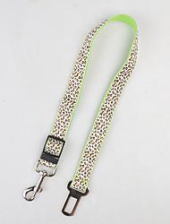 Недорогие -Собака Ремни Безопасность Леопард Терилен Зеленый Синий Розовый