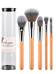 cheap -Professional Makeup Brushes Makeup Brush Set 5 Travel Full Coverage Synthetic Hypoallergenic Limits Bacteria Blending Premium flawless Synthetic Hair / Artificial Fibre Brush Bamboo for Cream Liquid