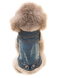 cheap -Dog Costume Vest Winter Dog Clothes Costume Plush Fabric Animal Cosplay Cowboy Simple Style XS S M L XL XXL