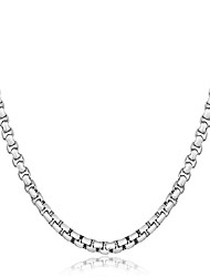 cheap -Women's Unisex Choker Necklace Geometrical Luxury Classic Natural Elegant Sterling Silver Gold Silver Necklace Jewelry For Christmas Party Graduation Club Beach