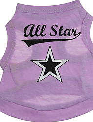 cheap -Dog Vest Dog Clothes Costume Cotton Stars Casual / Daily