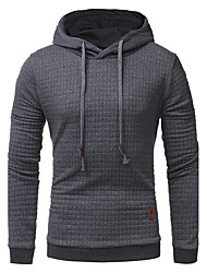 cheap -Men's Sports Vintage / Casual / Active Long Sleeve Hoodie - Solid Colored Hooded Black XL / Spring / Fall / Winter