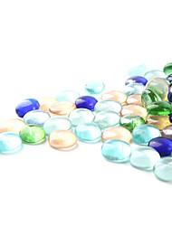 cheap -Fish Tank Aquarium Decoration Ornament Stones Rainbow Glass 20*20 cm