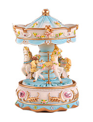 cheap -Music Box Carousel Music Box Horse Carousel Lovely Unique Plastics Women's Girls' Kid's Adults Kids 1 pcs Graduation Gifts Toy Gift