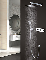 cheap -Shower Faucet - Contemporary / Modern Style Chrome Wall Mounted Brass Valve