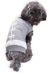 cheap -Cat / Dog Coat / Sweater / Christmas Dog Clothes Bowknot Gray Spandex / Cotton / Linen Blend Costume For Pets Party / Cosplay / Casual /