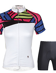 cheap -ILPALADINO Women's Short Sleeve Cycling Jersey with Shorts - Black Bike Clothing Suit, 3D Pad, Quick Dry Polyester, 100% Polyester,