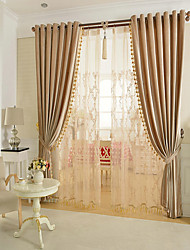 cheap -Glam Blackout Curtains Drapes Two Panels Living Room