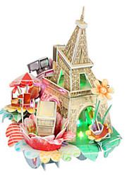 abordables -Puzzles 3D Architecture 3D Bois Naturel Unisexe Cadeau