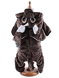 cheap -Dog Costume Hoodie Jumpsuit Winter Dog Clothes Light Brown Coffee Costume Corduroy Animal Cosplay XS S M L XL