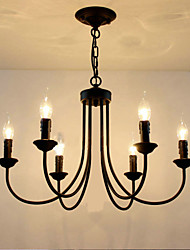 cheap -6-Light 62 cm Candle Style Chandelier Metal Candle-style Painted Finishes Traditional / Classic 110-120V / 220-240V