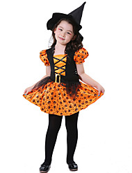 cheap -Witch Fairytale Cosplay Cosplay Costume Masquerade Kid's Girls' Halloween Carnival Festival / Holiday Elastane Tactel Female Carnival Costumes Other Vintage