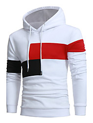 cheap -Men's Hoodie Solid Colored Daily Weekend Active Hoodies Sweatshirts  White Black Beige