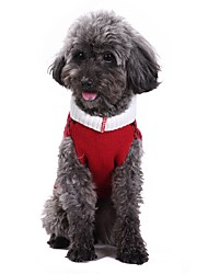 cheap -Cat / Dog Coat / Sweater / Christmas Dog Clothes Plaid / Check Red Spandex / Cotton / Linen Blend Costume For Pets Party / Cosplay / Casual / Daily