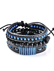 cheap -Men's Women's Leather Bracelet Geometrical woven Classic Bohemian Basic Punk Leather Bracelet Jewelry Blue For Wedding New Baby Gift Evening Party Going out Office & Career