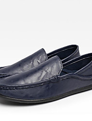 cheap -Men's Driving Shoes Canvas Spring / Fall Loafers & Slip-Ons Black / White / Blue / Split Joint / Outdoor / Office & Career