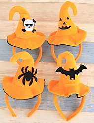 cheap -Halloween Variety Of Lovely Headband Hoop Pumpkin Bats Hat Adult Children Halloween Party Dressing Supplies