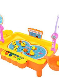 Недорогие -Рыболовные игрушки Вращающаяся Рыбалка Игрушка Рыбки Электрический 2 игрока Пластик Детские Игрушки Подарок 1 pcs