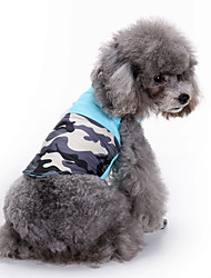 cheap -Dog Coat Sweatshirt Vest Dog Clothes Color Block Blue Cotton Costume For Spring &  Fall Winter Men's Women's Party Casual / Daily Sports