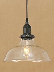 cheap -1-Light 25 cm Bulb Included / Eye Protection / Designers Pendant Light Metal Glass Bowl Electroplated Retro 200-240V / 110-120V