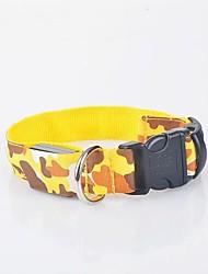 cheap -Dog Collar Light Up Collar Strobe / Flashing Camouflage Terylene Yellow Red