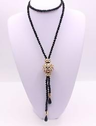 Недорогие -Жен. Синтетический алмаз Ожерелья с подвесками Классика Мода Сплав Черный Ожерелье Бижутерия Назначение Подарок Повседневные Для вечеринок Для сцены