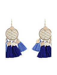 cheap -Women's Drop Earrings fan earrings Tassel Ladies Personalized Tassel Bohemian Fashion Boho Earrings Jewelry Green / Depression Green / Light Blue For Wedding Party Graduation Gift Daily Casual