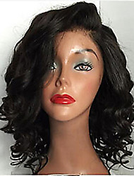 cheap -Remy Human Hair Unprocessed Human Hair Glueless Full Lace Full Lace Wig style Brazilian Hair Wavy Wig 130% 150% 180% Density with Baby Hair Natural Hairline African American Wig 100% Hand Tied