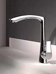 cheap -Kitchen faucet - Contemporary / Modern Style Chrome Centerset