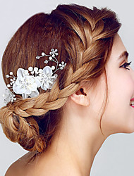 cheap -Crystal / Organza Hair Combs / Headwear with Floral 1pc Wedding / Special Occasion / Anniversary Headpiece