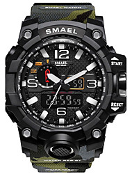 cheap -SMAEL Men's Sport Watch Digital Watch Hunting Watch Silicone Black / Red 50 m Water Resistant / Waterproof Stopwatch Noctilucent Analog - Digital Red / Blue Khaki Camouflage Green Two Years Battery