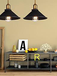 cheap -Diameter 26cm Industrial Ceiling Light Semi Flush Vintage Metal 1-Light Ceiling Lamp Dining Room Kitchen Light Fixture