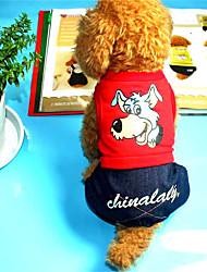 cheap -Dog Sweatshirt Dog Clothes Casual/Daily Cartoon Ruby Yellow