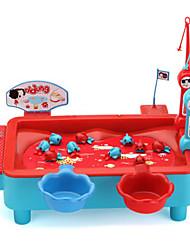 Недорогие -Рыболовные игрушки Вращающаяся Рыбалка Игрушка Рыбки Магнитный Электрический 2 игрока Пластик Детские Игрушки Подарок 1 pcs