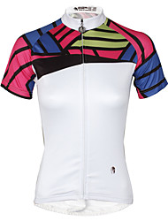 cheap -ILPALADINO Women's Short Sleeve Cycling Jersey Bike Jersey Top Mountain Bike MTB Road Bike Cycling Quick Dry Sports Polyester 100% Polyester Clothing Apparel / Stretchy