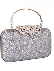 cheap -Women's Bags leatherette Evening Bag Rhinestone MiniSpot Sequin Wedding Party Event / Party Gold Silver