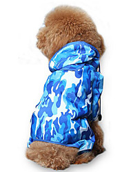 cheap -Dog Rain Coat Dog Clothes Geometric Acrylic Fibers Costume For Pets Men's / Women's Casual / Daily